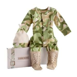Dreamzzz Baby Camo Layette Set with Gift Box, Tan, 0 6 Months Baby