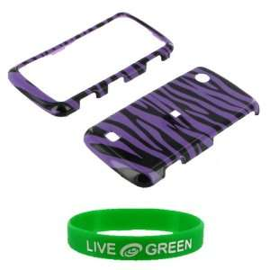 Purple & Black Zebra Design Snap On Hard Case for LG Chocolate Touch