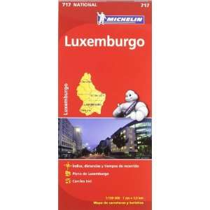 Luxemburgo. Mapa National 717 (9782067170797) Michelín