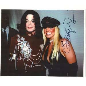 Michael Jackson & Brittney Spears Autographed