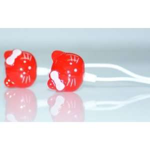 Red Hello Kitty Style Headphone for  Players/MP4/iTouch/CD Players