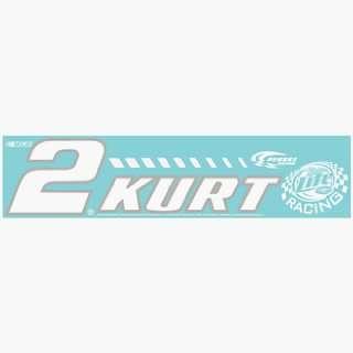 NASCAR Kurt Busch 4x16 Die Cut Decal