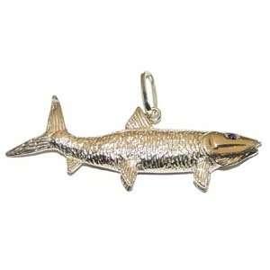 Reyes del Mar 14K Gold Bonefish Nautical Pendant