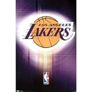 Los Angeles Lakers Poster Team Logo Nba Basketball Poster
