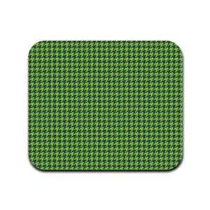 Houndstooth Pattern   Green and Black Mousepad Mouse Pad Electronics