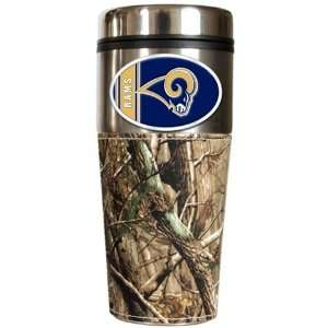 Saint Louis Rams St Realtree Camo Travel Coffee Mug Sports & Outdoors