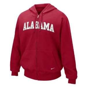 Alabama Crimson Tide Nike Crimson Classic Full Zip Fleece Hoodie