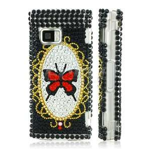 BUTTERFLY & MIRROR 3D CRYSTAL BLING CASE FOR NOKIA X6 Electronics