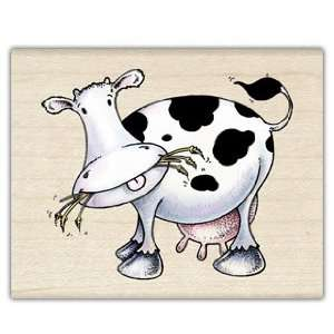 Moo Cow Wood Mounted Rubber Stamp
