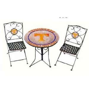 UT Vols Volunteers Bistro Table & Chairs Patio Set: Sports & Outdoors