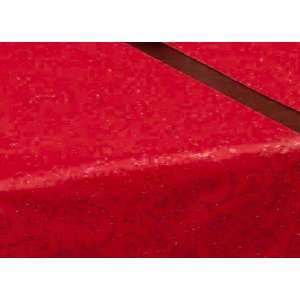 72 Long Deep Red Satin Table Runner with Red Glittery