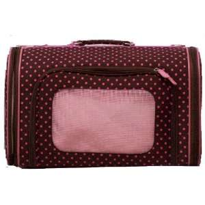 Luggage Style   Polka Dot   Brown and Pink