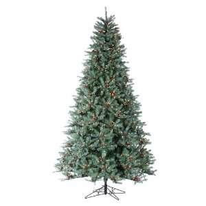 9 Pre Lit New Blue Green Diamond Fir Artificial Christmas Tree