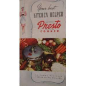 Helper By National Presto Cooker National Pressure Cooker Co. Books