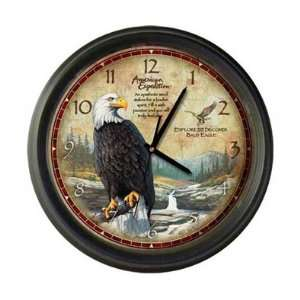 New American Expedition Wall Clock Bald Eagle High Quality Quartz Time