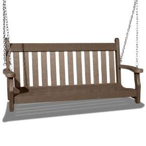 VIFAH V1228 WW Outdoor Recycled Plastic Swing, Weathered