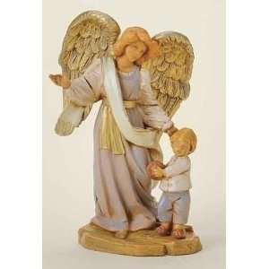 of 2 Fontanini Boy with Guardian Angel Religious Figurines 5.5 #65525
