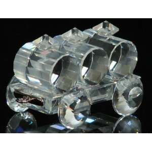 Authentic Swarovski Crystal Figurine Locomotion Petrol
