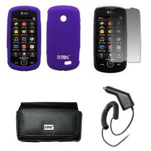 Case + Screen Protector + Car Charger (CLA) for AT&T Samsung Solstice