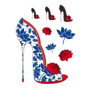 Blue Floral Shoe (Shoes Shoes Shoes)   Designer Laptop Skin Tattoo