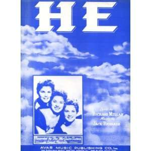 1954 Sheet Music Recorded by The McGuire Sisters