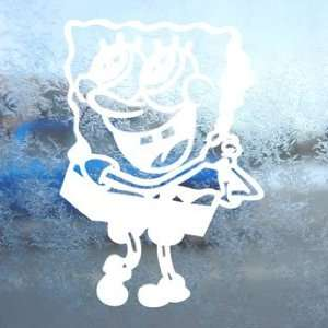 SpongeBob White Decal Squarepants Car Window Laptop White