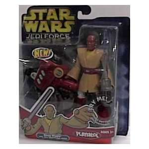 Star Wars Jedi Force Mace Windu Action Figure By Playskool  Toys