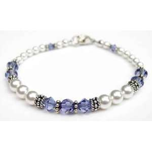 Bracelets Swarovski Crystal Beaded Pearl Bracelets in Sterling Silver