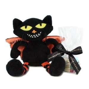 Ghirardelli Chocolate Bat Cat Halloween Plush with SQUARES Chocolates
