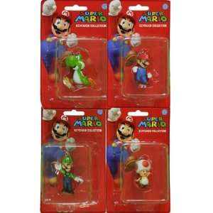 Super Mario Brothers Keychain Clip on Set of 4  Toys & Games