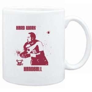Mug White  HARD WORK Handball  Sports Sports & Outdoors