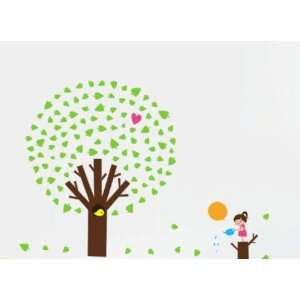 Bigbvg Easy Instant Home Decor Wall Sticker Decal   Girl