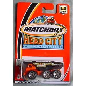 Matchbox Hero City Dump Truck #69 ORANGE: Toys & Games