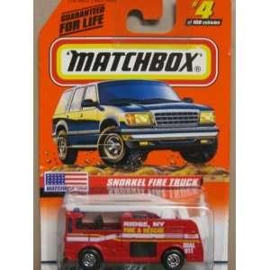 Matchbox Snorkel Fire Truck #4 100 Toys & Games