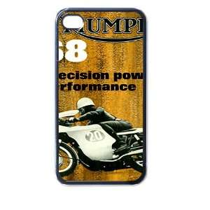 triumph motorcycle p iphone case for iphone 4 and 4s black