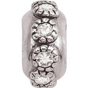 Row Charm fits Pandora, Troll & Chamilia European Charm Bracelets