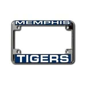 University of Memphis Tigers Chrome Motorcycle RV License Plate Frame
