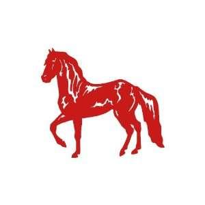 Horse RED vinyl window decal sticker