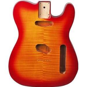 REPLACEMENT TELE® BODY FLAME CHERRY SUNBURST: Musical