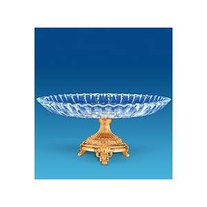 24k Gold Plated Crystal Cake Stand