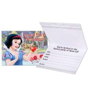: Disney Snow White Invitations Party Supplies (White): Toys & Games
