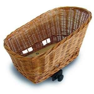 Basil Pasja Animal Rear Mount Basket for Bicycles, Natural Wicker