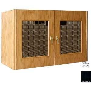 Bottle Wine Cellar Credenza   Glass Doors / Black Cabinet Appliances