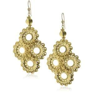 : Vanessa Mooney Gold Vermeil Filagree Wire Wrapped Earrings: Jewelry