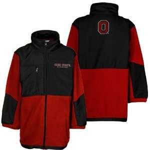 NCAA Ohio State Buckeyes Youth Black Scarlet Polar Fleece