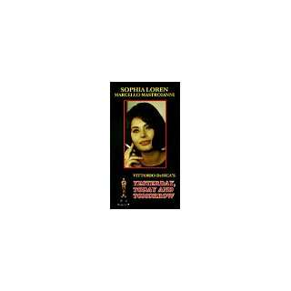 Yesterday, Today and Tomorrow [VHS] Sophia Loren