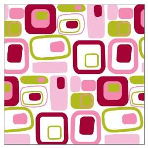 Brewster Wallcovering Go Retro Pink Blox Wall Decor KWPB90243 Baby