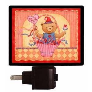 com Valentines Day Night Light   Be Mine Bear Basket   Love LED NIGHT