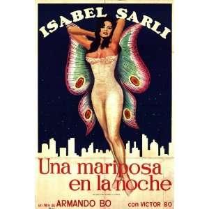 Mariposa en la noche, Una Movie Poster (11 x 17 Inches