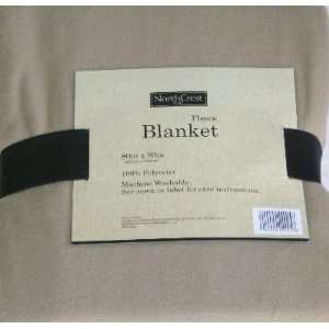 Tan Full/Queen Bed Warm Fleece Blanket Soft Bedding